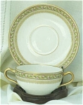 Click here to enlarge image and see more about item 23453: Theodore Havilland Limoges China Bouillon Cup & Saucer Sets