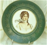 Click here to enlarge image and see more about item 23463: Empire China Portrait Plate, Hungarian Princess