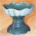 Click here to enlarge image and see more about item 23480: Brush McCoy (Brush-McCoy) Pottery Planter, Two Tone Green #715