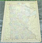 Click here to enlarge image and see more about item 23487: 1900 Antique Maps, U.S.A. & combined MA, CT & RI; also OH & IL