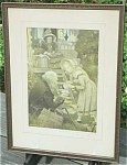Click here to enlarge image and see more about item 23489: Jessie Willcox Smith Charles Dickens Framed Antique Print Old Frame