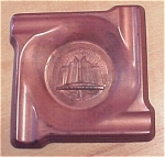 Click here to enlarge image and see more about item 23506: 1933 Chicago Worlds Fair Copper Ash Tray