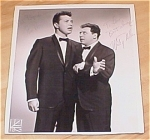 Click here to enlarge image and see more about item 23518: Marty Allen & Steve Rossi Dual Autograph Photo, Autographed Photo