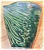 Click to view larger image of Nifty Blue & Green Ridged V-Shaped Pottery Vase (Image4)