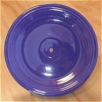 Click here to enlarge image and see more about item 23564: Vintage Cobalt Fiesta Pottery Plate with Hole for Tidbit Server