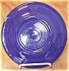 Click to view larger image of Vintage Cobalt Fiesta Pottery Plate with Hole for Tidbit Server (Image2)