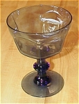 Click here to enlarge image and see more about item 23568: Signed Lenox Smoke Blue Wine or Champagne Glass