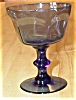 Click to view larger image of Signed Lenox Smoke Blue Wine or Champagne Glass (Image2)