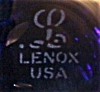Click to view larger image of Signed Lenox Smoke Blue Wine or Champagne Glass (Image3)