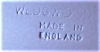 Click to view larger image of Small Wedgwood China Blue Jasperware Queensware Ashtray Trinket (Image2)