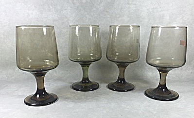 Set (4) Libbey Tawny Accent #3755 11 1/4 ounce footed goblets (Image1)