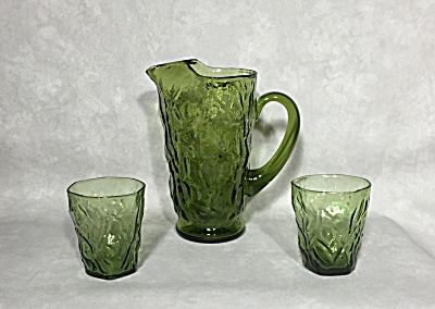 Seneca Driftwood Moss Green Cocktail Set (Image1)