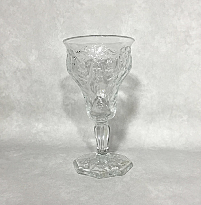 McKee Art Deco Rock Crystal clear 8 ounce footed goblet (Image1)