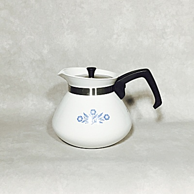 Corning Cornflower Blue P-104 6 cup teapot (Image1)