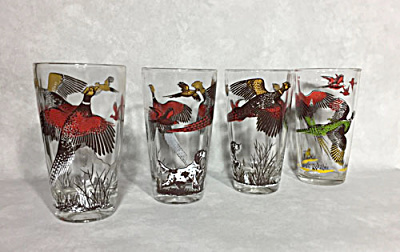Set 4 vintage game bird hiball glasses (Image1)