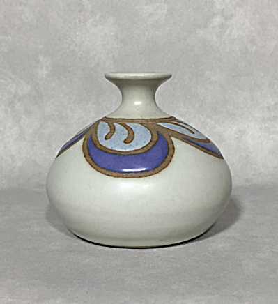 Marcy Mayforth 1990s Purple Plumes vase (Image1)