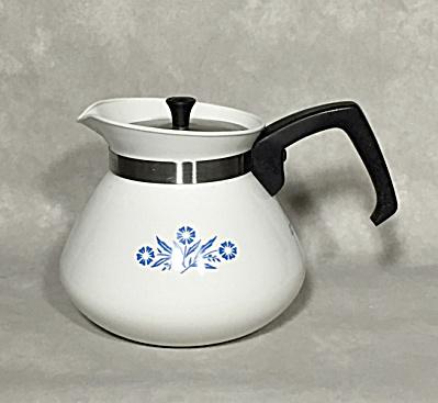 Corning Midcentury Cornflower Blue P-104 6 cup teapot (Image1)