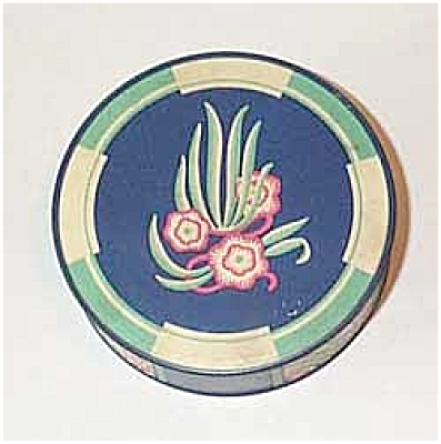 Vogue green/blue floral typewriter tin (Image1)