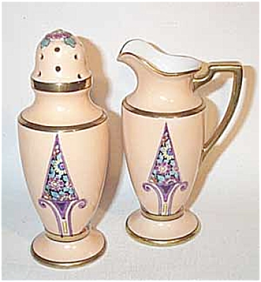 Noritake purple chevron muffineer set (Image1)