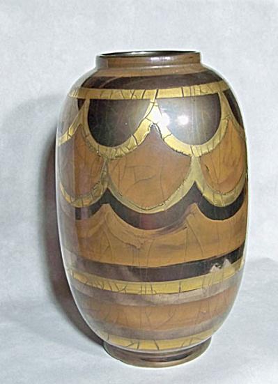 Bellini signed 12 inch 3 luster baluster vase (Image1)
