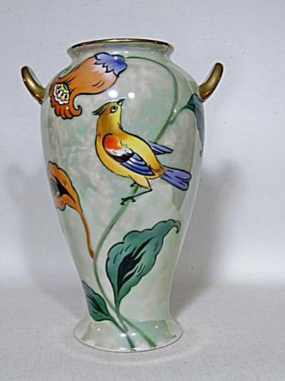 Noritake Deco Bird green luster vase (Image1)