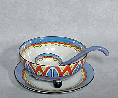 Noritake 3 Pc Deco Luster Mayo Set