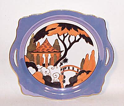 Noritake Deco Bridge scene cake plate (Image1)