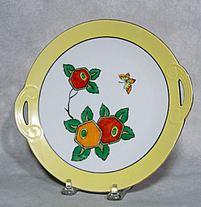 Noritake 8 Inch Art Deco Floral Plate