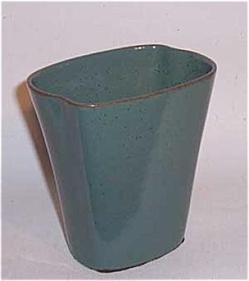 Ballard #16 4.5 inch 2 lobe green vase (Image1)