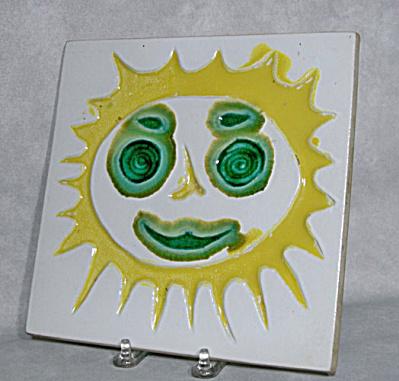 Bennington Potters #1532 Sun Trivet/Plaque (Image1)