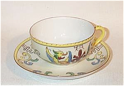 Noritake Deco VP 771 motif griffin cup saucer (Image1)