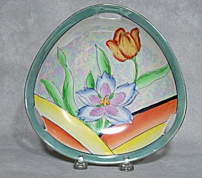 Noritake Deco 7 inch speed line floral bowl (Image1)