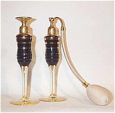 Devilbiss black gold perfume  & atomizer (Image1)