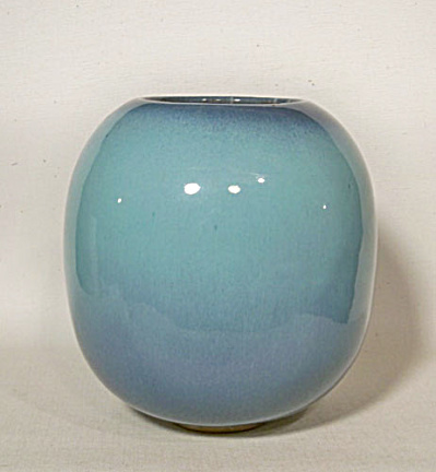 Glidden #49 turquoise ball vase (Image1)