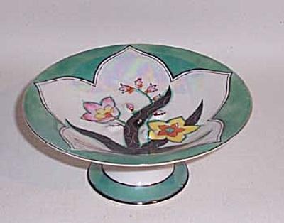Noritake Deco relief  floral compote (Image1)