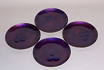 Bovano set 4 Mulberry jewel coasters (Image1)
