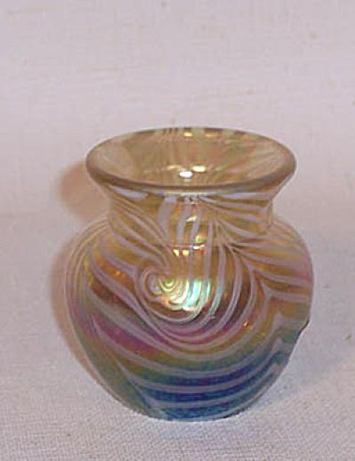 toothpick holder: Crider 2009 amber cobalt (Image1)