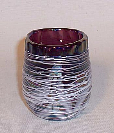 toothpick holder: Crider 1977 white threaded (Image1)