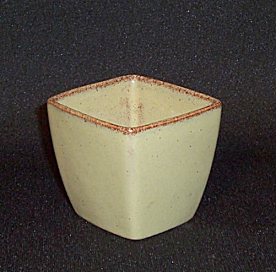 Ballard #40 celadon square top small vase (Image1)