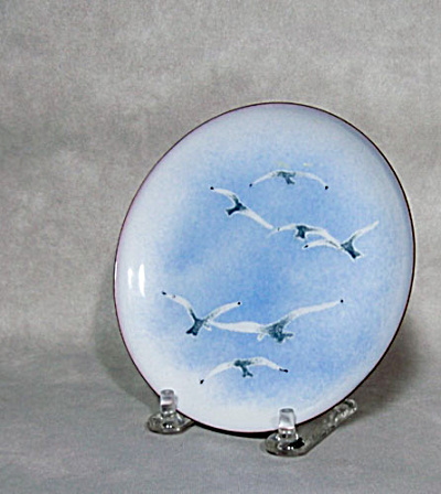 Bovano Seagull mid-century enamel plate (Image1)