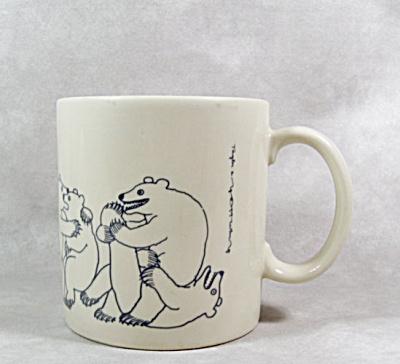 Taylor & Ng 1979 blue Bear Orgy mug (Image1)