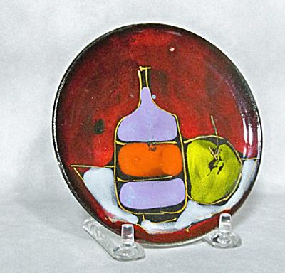 Midcentury Italian small hanging retro plate (Image1)