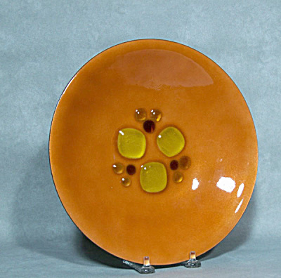 Annemarie Davidson Enamel Orange Jewel Bowl