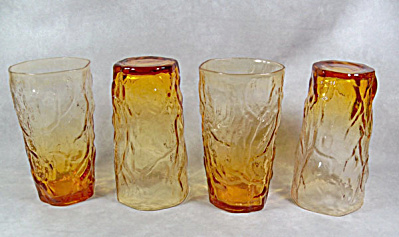 Seneca Driftwood amber set 4 Hi-Ball glasses (Image1)