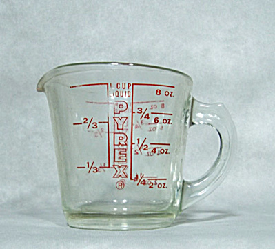 Early vintage Pyrex red measuring cup (Image1)