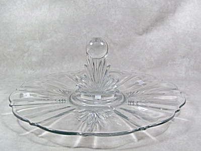 Fostoria Flame #2545 ball finial server (Image1)
