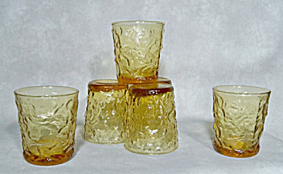 6 Anchor Hocking Lido Honey Gold Rocks glass (Image1)