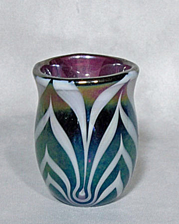 toothpick holder: Crider 1976 white feather (Image1)
