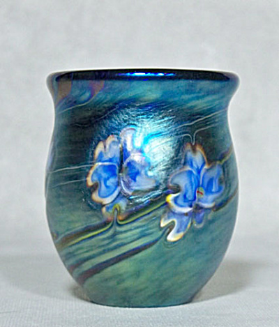 art glass toothpick holder: Salazar 2013 (Image1)