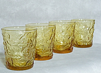 4 Anchor Hocking Lido Honey Gold Rocks glass (Image1)